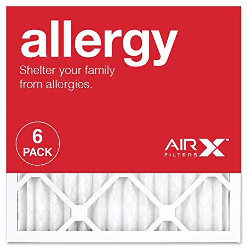 AIRx ALLERGY 16x16x1 MERV 11 Pleated Air Filter - Made in the USA - Box of (Allergy Furnace Filters)
