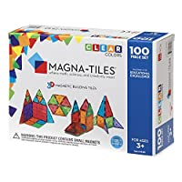 Juego de colores claros de 100 piezas Magna-Tiles: los originales y premiados azulejos magnéticos para edificios - Creatividad y educación - Aprobado por STEM