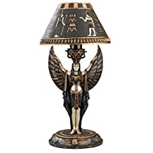 Design Toscano Isis Egyptian Sculptural Table Lamp