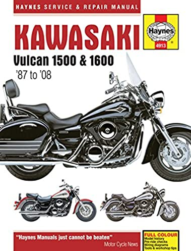 kawasaki vulcan 1500 1600 87 to 08 haynes service repair rh amazon com kawasaki vulcan 1500 nomad service manual kawasaki vn 1500 owners manual