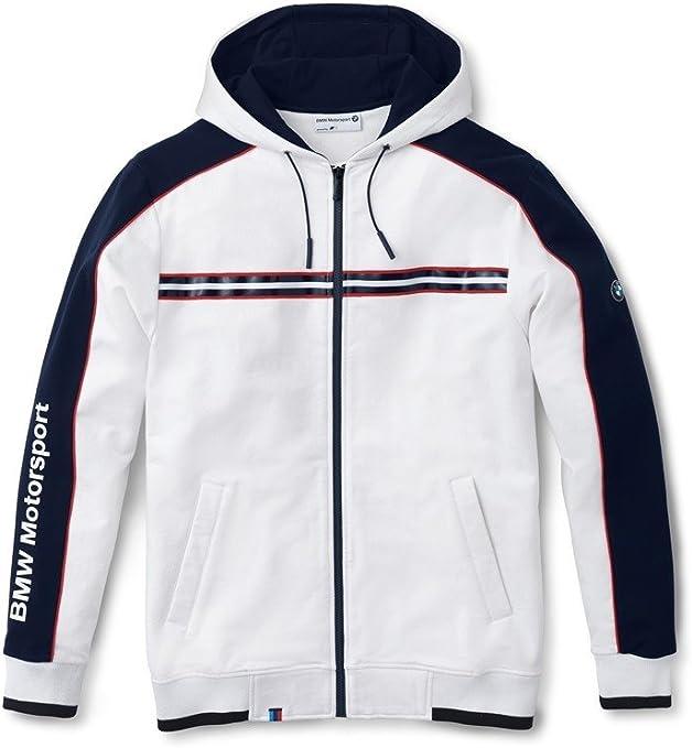 BMW original motorsport sweat shirt à capuche homme blanc