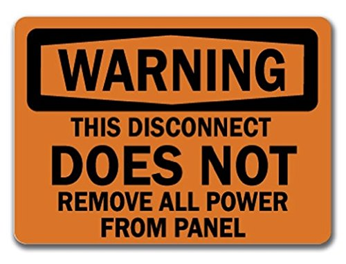 Top 10 disconnect power warning sticker