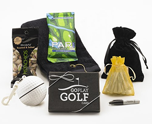 Go Play Golf Essentials I-50 Gift Basket for Men and Women