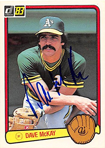 Dave McKay autographed baseball card (Oakland Athletics) 1983 Donruss #213