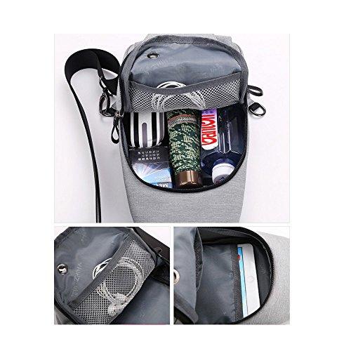 Shoulder B Outdoor Versatile Pack Canvas Package Men's A Diagonal Single Chest Bags qwgq0PzH