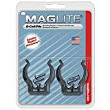 Maglite Black Universal Mounting Brackets for D-Cell Flashlight, 2 pk фото