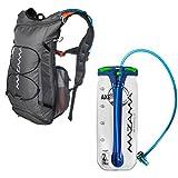 Hydration Reservoir Pack - 2 or 3 Liter Water Bladder - Tasteless & BPA Free - Multifunction Kit - USA Made Film - Mazama - Tumalo (Grey 3L)