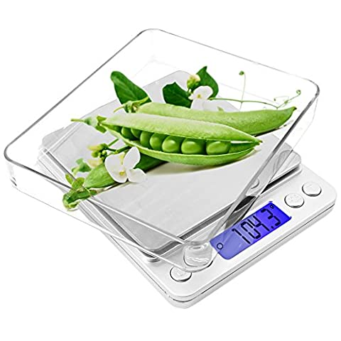 Kitchen Scale for Cooking/Baking, SENHAI Backlit Display Precise Digital Pocket Scale with Pieces Counting (Equilibrio Gioiello)