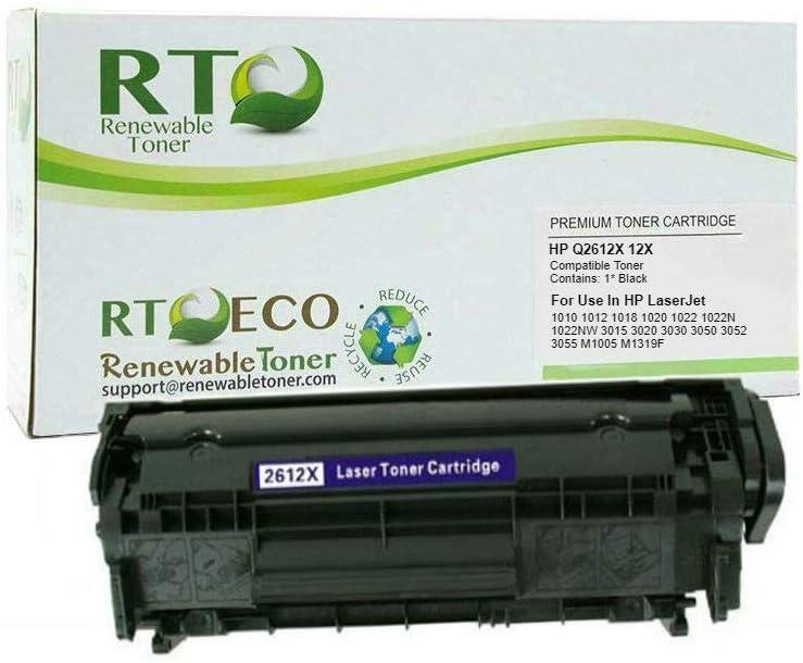 Renewable Toner Compatible Toner Cartridge Replacement for HP 12X Q2612X Laserjet 1010 1012 1018 1020 1022 1022N 1022NW 3015 3020 3030 3050 3052 3055 M1005 MFP M1319F MFP
