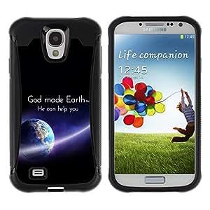 Paccase / Suave TPU GEL Caso Carcasa de Protección Funda para - BIBLE God Made Earth - Samsung Galaxy S4 I9500