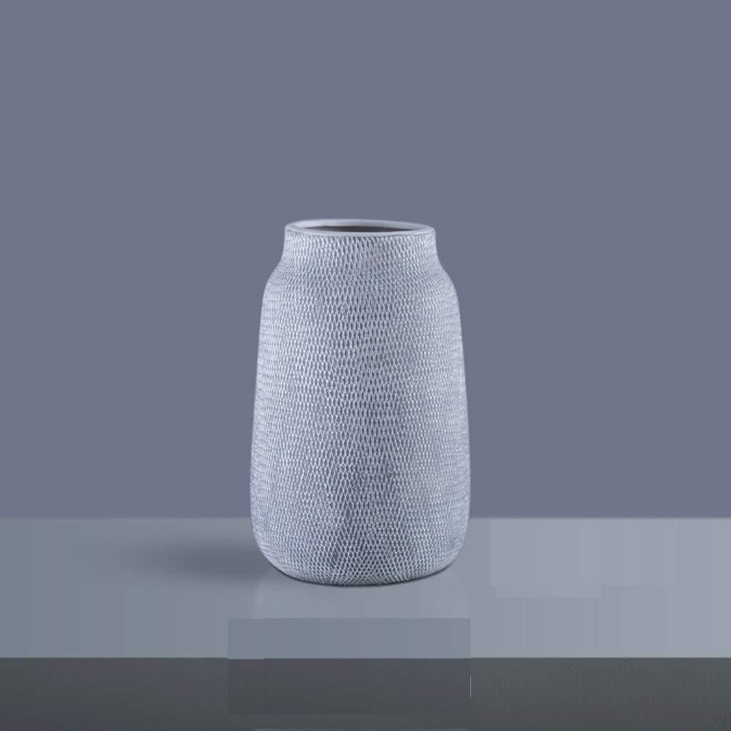 グリッドパターンセラミックフラワーリビングルーム装飾フラワーアレンジメントカウンタートップ大型花瓶 SHWSM (サイズ さいず : 9*24*15cm) B07S2M29WQ  9*24*15cm