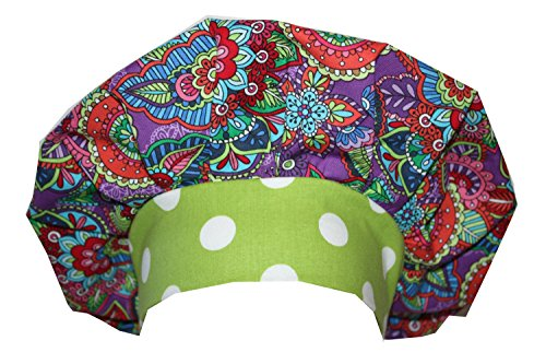 Mod Butterfly Hats (Scrub Hat Chemo Cap Bouffant Style MANY Color Options Available (mod butterfly))