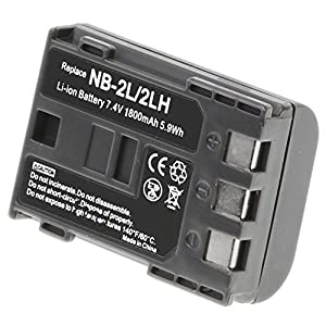 NB-2LH Battery 1800 mAh for Canon Camera & Video Camera