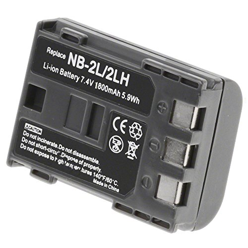 NB-2LH Battery 1800 mAh for Canon Camera & Video (Nb 2lh Camera Battery)