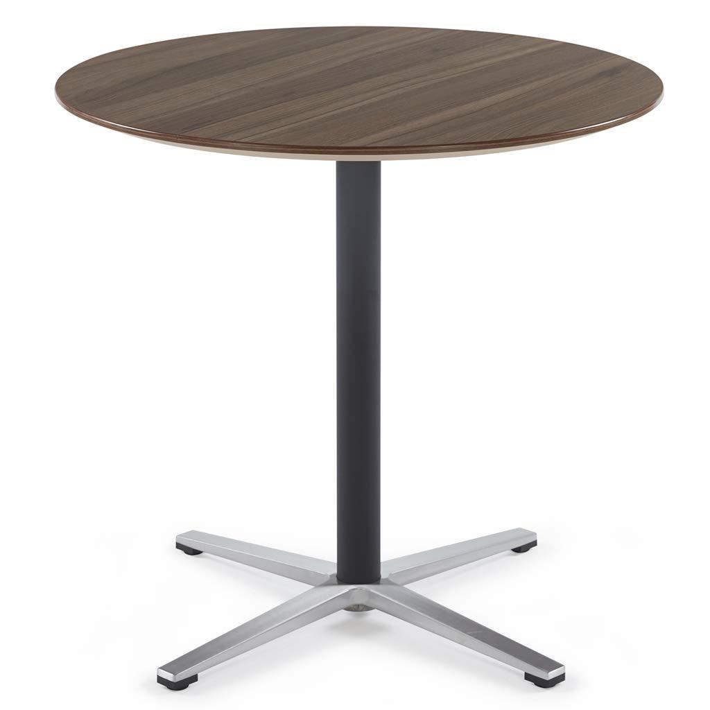 Kass Walnut D8075cm D31.5''29.5'' Sunon Pub Table Round White Table Bistro Table Round Table Dia80x75cm (Moon White)
