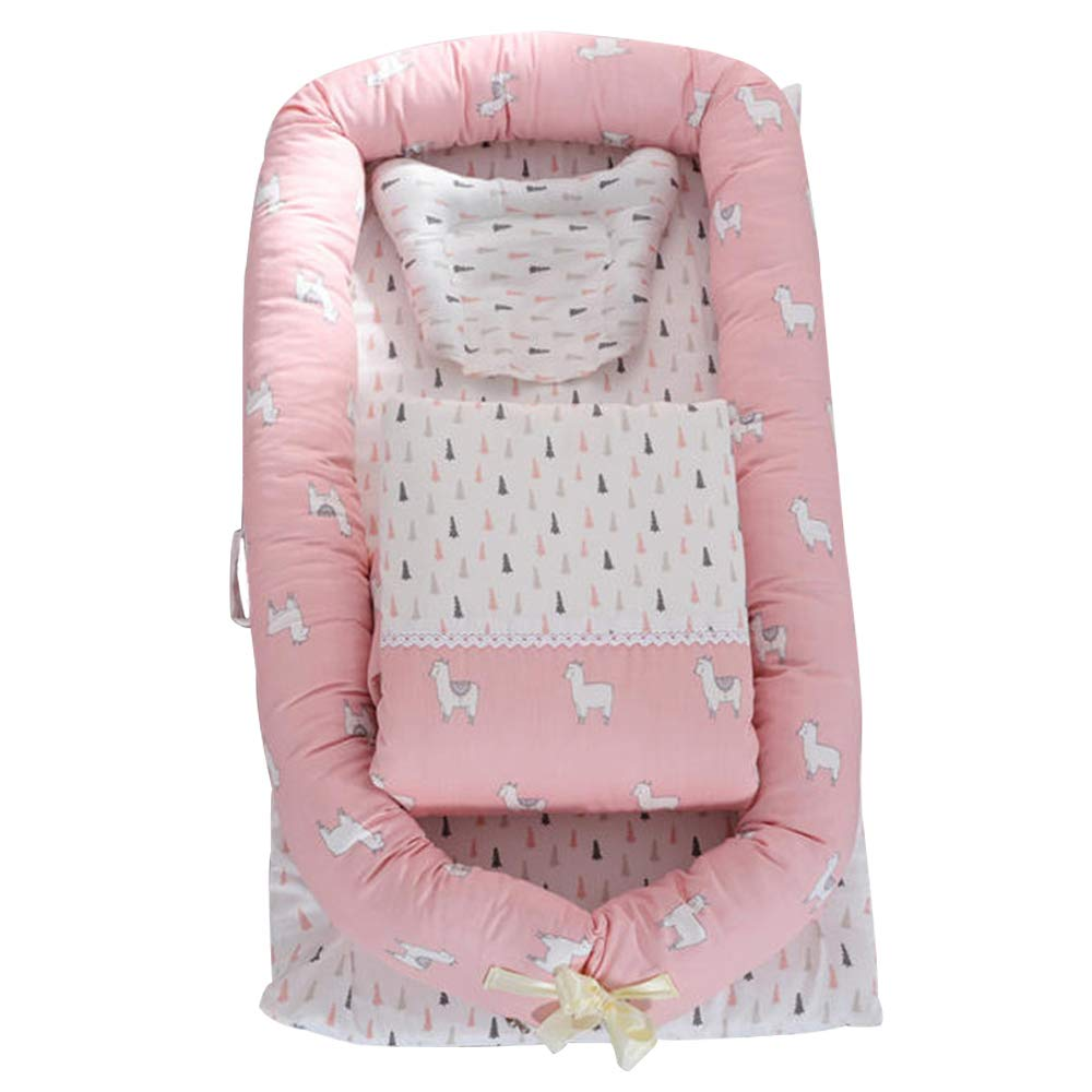 Abreeze Baby Lounger,Infant Lounger,Newborn Lounger: Breathable,Hypoallergenic-Perfect for Co-Sleeping,Cotton Portable Travel Infant Bed,Crib,Bassinet,or Alpaca Baby Nest by Abreeze