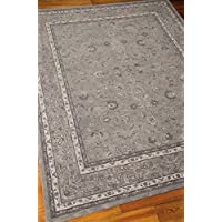 Nourison Heritage Hall (HE29) Steel Rectangle Area Rug, 2-Feet 6-Inches by 4-Feet 2-Inches (26 x 42)