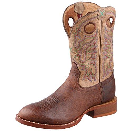 Stivale Da Cowboy Uomo Stock Twisted Tondo Da Uomo Punta Rotonda In Rame 9.5 Ee Us