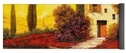 Pixels Yoga Mat w/ Bag ''Lungo Il Fiume Tra I Papaveri'' by Pixels