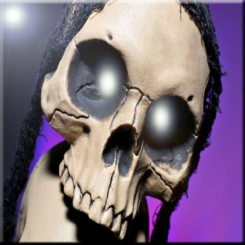 Rikki Knight Glowing Skull on Purple Design Ceramic Art Tile 6 x 6