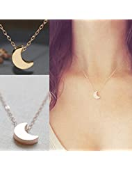 My Times_CA_Jew: Crescent Moon Necklace Simple Cute Gold / sliver necklace bridesmaid jewelry Modern mothers day gifts for mom