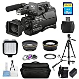 Sony HXR-MC2500E Shoulder Mount AVCHD Camcorder PAL #HXR-MC2500E PRO KIT with Extra Battery and Charger, Filter Kit, 16GB SD, Tripod, X-Large Gadget Bag + More [International Version]