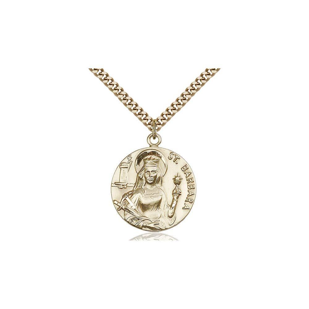 DiamondJewelryNY 14kt Gold Filled St Barbara Pendant