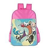 Kids Regular Show School Backpack Cartoon Children School Bag Pink