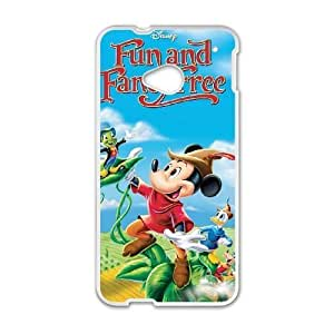HTC One M7 phone case White Reluctant Dragon QWE7512383