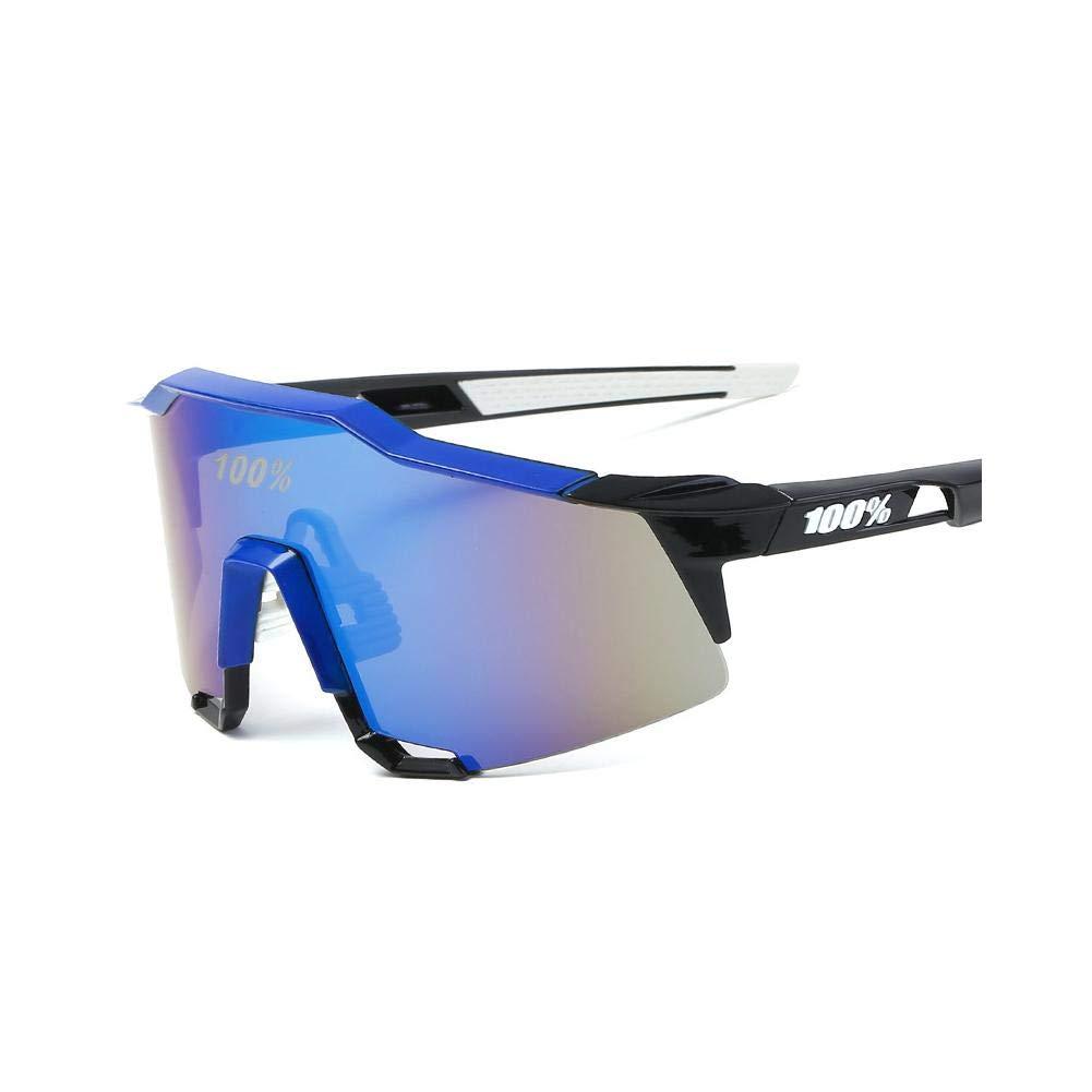 Biback Occhiali da Sole Sportivi Casual Polarizzati, Uomo e Donna Anti-UV 400 Protezione Ciclismo Occhiali da Sole,Antivento Aviatore Specchio per MTB, Bici, Moto, Trekking