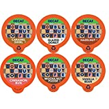 Double Donut Coffee Decaf Flavored Coffee Single Serve Cups For Keurig K Cup Brewer Variety Pack Sampler (72 Count)