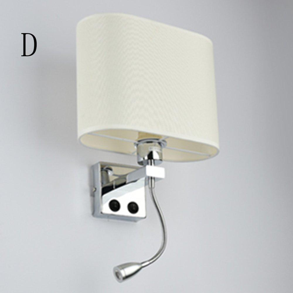 MIAOLIDP Creative Stairs Hotel Wohnzimmer Schlafzimmer Gang - LED Nachtwandleuchte - Mit Schalter Wandleuchte Edison Lights (Größe   D- single head)
