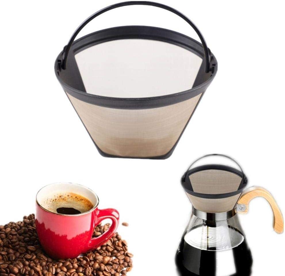 FIREPANDA Filtros de café Reutilizables Goteador Acero Inoxidable 10-12 Tazas Cafetera Permanente Cesta Recargable Asas Lavable Cafe Tools: Amazon.es: Hogar