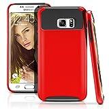 Galaxy S6 Edge Plus Case, MagicMobile Hybrid Hard Shockproof Rubber Case for Samsung Galaxy S6 Edge Plus Dual Layer Slim Armor Impact Shock Resistant Case for Galaxy S6 Edge Plus (Red - Black)