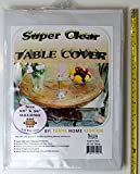 100% Vinyl Super Clear and Durable Tablecloth Protector Size 60'' X 90'' Oblong