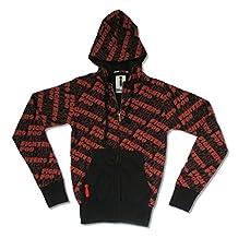 Foo Fighters Repeat Logo All Over Black Zip Hoodie Sweatshirt Adult