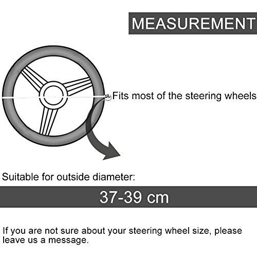 30%OFF Couvre Volant Noir Microfibre Cuir Diamètre 37-39 cm