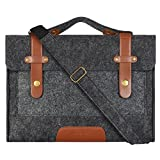 Mosiso 12.9 iPad Pro / 13.3 Inch MacBook Air / MacBook Pro Retina Felt Shoulder Bag Briefcase Laptop Bag Tablet PC Carrying Case , Compatible with Most 11 Inch Ultrabook Netbook , Black