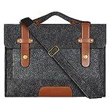 Mosiso Felt 15.6 Inch Laptop Shoulder Bag Briefcase Carry Case Sleeve Cover for Notebook ...