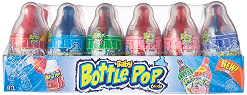 Topps Baby Bottle Pop Candy, 18-Count