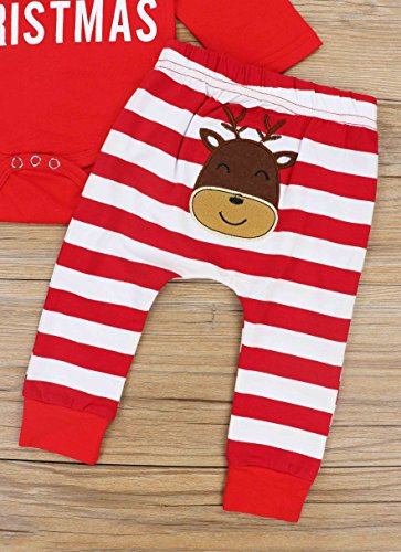 3bebf45ca Doding Christmas Outfits Baby Boys Girls My First Christmas Rompers Clothes  Set 0-6 Months