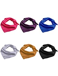 BMC 6 pc Womens Large Size Mixed Color Design Soft Wrap Scarf Accessories - Set 4: Solid Colors