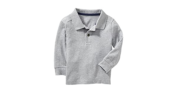 80499f57f Amazon.com   Old Navy Long Sleeve Pique Polo For Baby 18-24 M-Heather grey    Everything Else