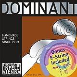 Thomastik Infeld Dominant 135b BONUS Set Synthetic Core 4/4 Violin Strings With Free Tin E