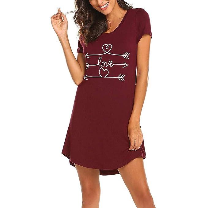 Amazon.com: Sleepwear - Camisa de dormir de algodón para ...