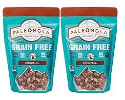 Paleonola Grain Free Gluten Free Non-GMO Granola, Original Flavor - Pack of 2, 10 Oz. ea.