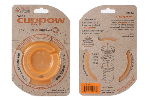 Cuppow Wide Mouth Mason Canning Jar Drinking Lid