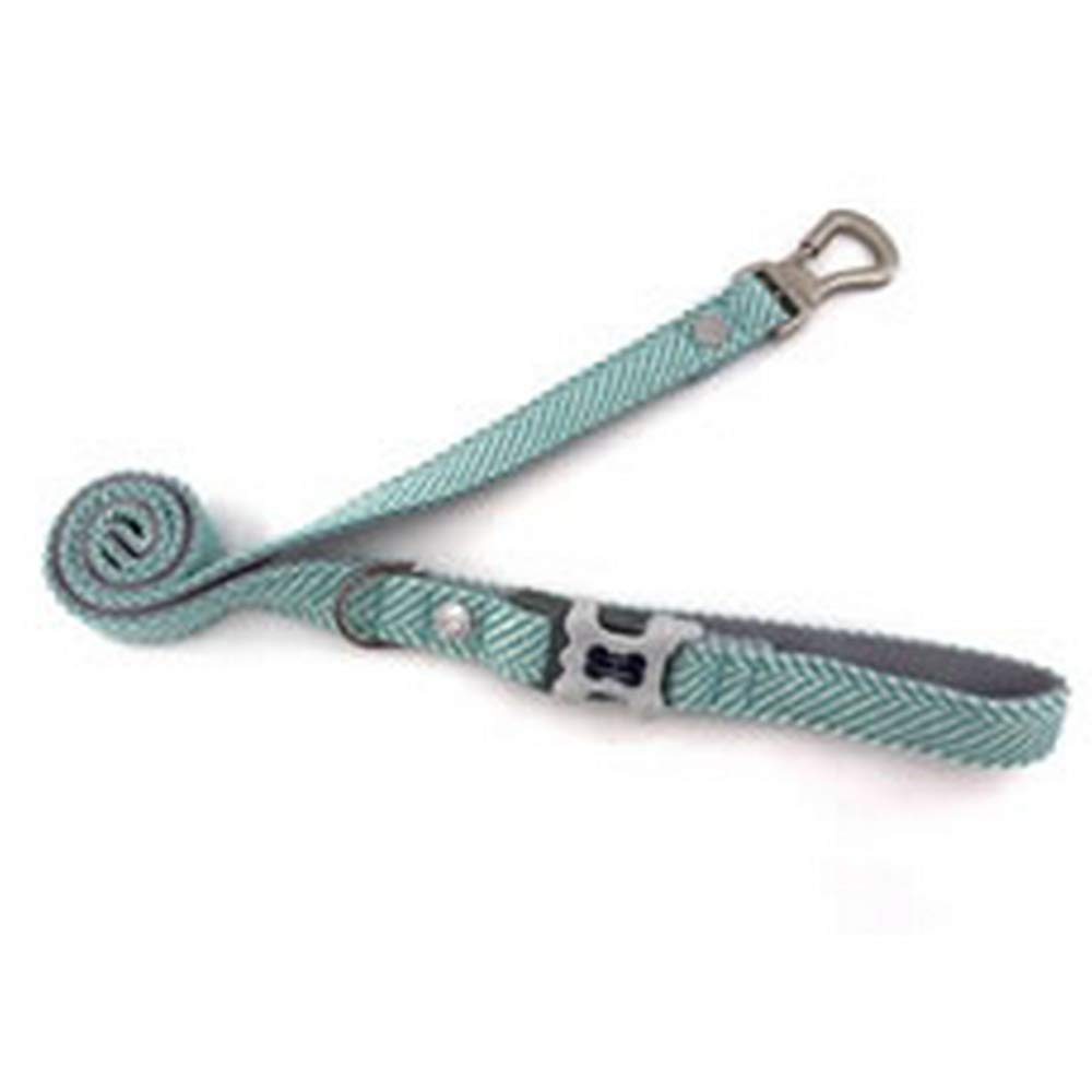 Aqua X-Small   Small Aqua X-Small   Small Hugo & Hudson Herringbone Leash (XS S) (Aqua)