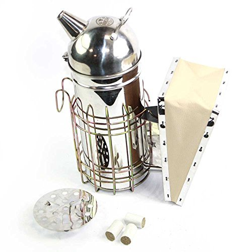 Goodland Bee Supply 11-Inch Stainless Steel Bee Hive Smoker with 3...