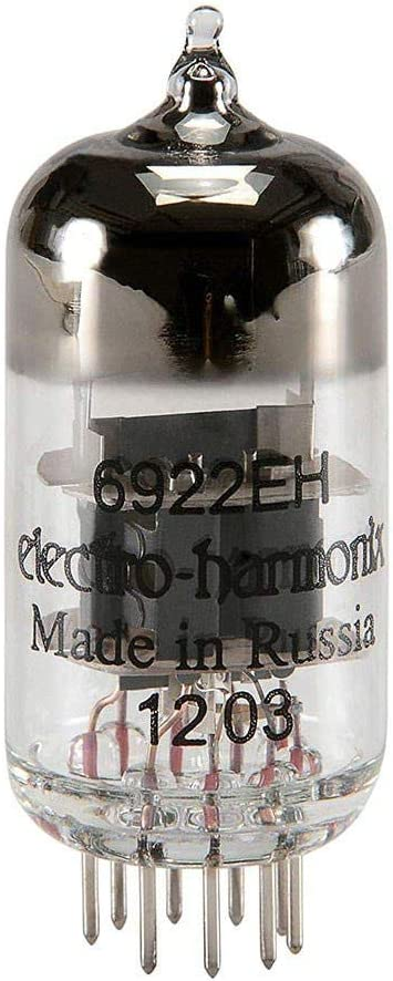 Electro Harmonix 6922EH Vacuum Tube (Each) - Replacement Tube for Monolith Liquid Spark Headphone AMP